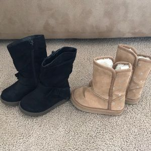 Other - Two pair baby girl black boots boots